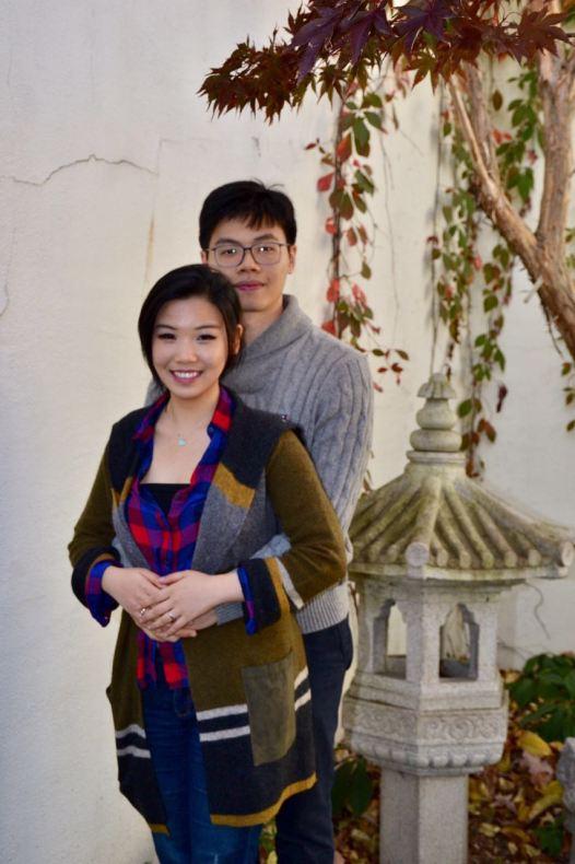 Cuddle Couple at Asian Garden