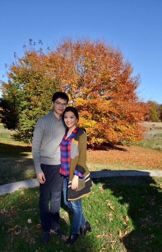 Orange trees in fall at National Arboretum